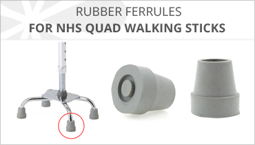 RUBBER FERRULES FOR QUAD CANES